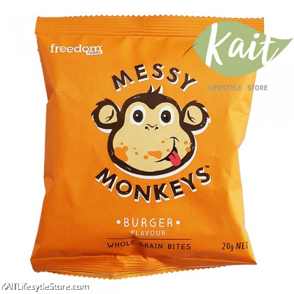 MESSY MONKEY Whole Grain Bites - Burger (20g)