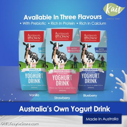 AUSTRALIA'S OWN Yoghurt Drinks (200ml) [Buy 1 Free 1]