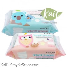 K-MOM Natural Pureness Baby Wet Wipes (100pcs)