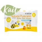 K-MOM Natural Pureness Baby Wet Wipes (10pcs)