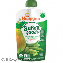 HAPPYBABY: HB Stage 4 - Green Bean/Pea/Pear (120g)
