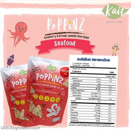 BE DELIGHT Poppinz Rice Chips (24g) [12month+]