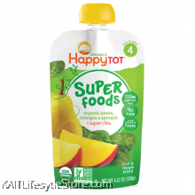 HAPPYBABY: HB Stage 4 - Spinach/Mango/Pear (120g)