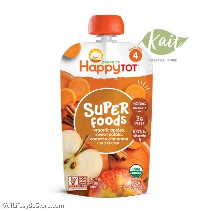 HAPPYBABY: HB Stage 4 - Sweet Potato/Apple/Carrot (120g)