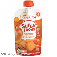 HAPPYBABY: HB Stage 4 - Sweet Potato/Apple/Carrot (120g)