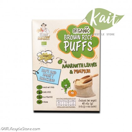 UNCLE MARK Organic Brown Rice Puff (40g)