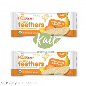 HAPPYBABY: Teething Wafer (4g x 2 packets) [TRIAL SET]