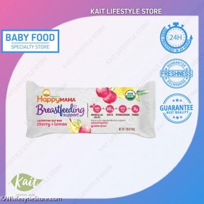 (BUY 1 FREE 2) HAPPYBABY Mama Breast Feeding Support Lactation Oat Bar - Cherry Lemon (45g)