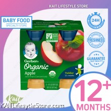 GERBER Organic 100% Juice Apple 4x4 (473ml) [12 months+]
