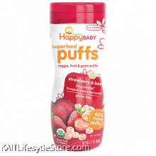 HAPPYBABY: Puffs - Strawberry & Beet (60g)