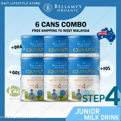 BELLAMY'S ORGANIC: Step 4 Junior Milk Drink [BUY 6 Free Shipping Combo] 6x900gm with Free Gift