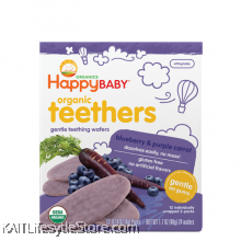 HAPPYBABY: Teething Wafer - Blueberry/Purple Carrot (48g)