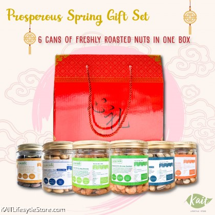 CNY Gift Box - 6 Bottles Assorted Roasted Nuts