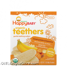 HAPPYBABY: Teething Wafer - Sweet Potato/BNN (48g)