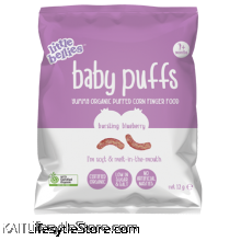 LITTLE BELLIES: Baby Puffs - Blueberry (12g)