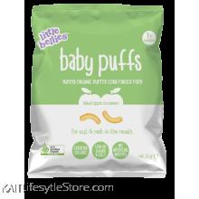 LITTLE BELLIES: Baby Puffs - Apple (12g)