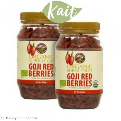 COUNTRY FARM ORGANIC DRIED GOJI RED BERRY (200G) TWIN PACK