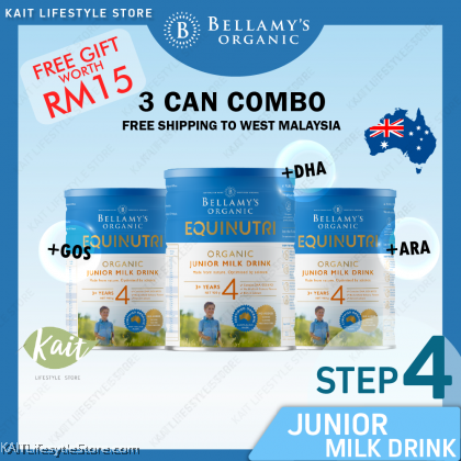 Bellamy's 3 Cans Step 4 Promo Pack (900g x 3) West Malaysia Free Shipping & Free Gift