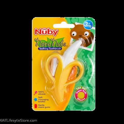 NUBY Banana Toothbrush with 360 Degree Bristles (1 Pc) [3m+]