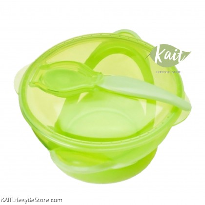 NUBY Garden Fresh Suction Bowl with Spoon & Lid [6m+]