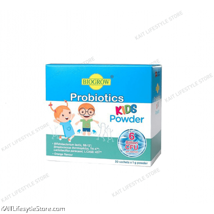 BIOGROW Probiotics Kids Powder Orange Flavor 30s x 1g