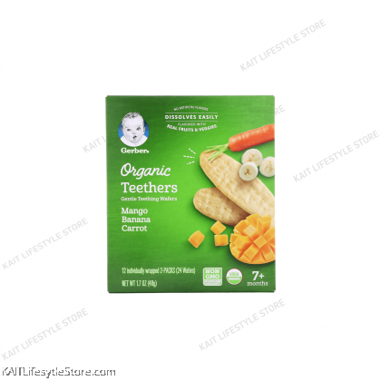 GERBER Organic Teethers 48g (7m+)