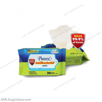 PUREEN Antibacterial Wipes Value Pack (30~80 sheets x2)