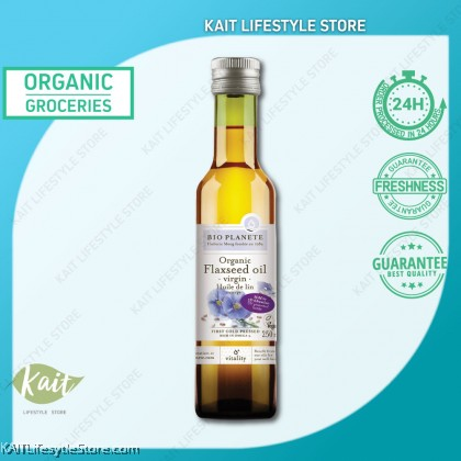 BIO PLANETE Organic Virgin Cold Pressed Flaxseed Oil (250ml)