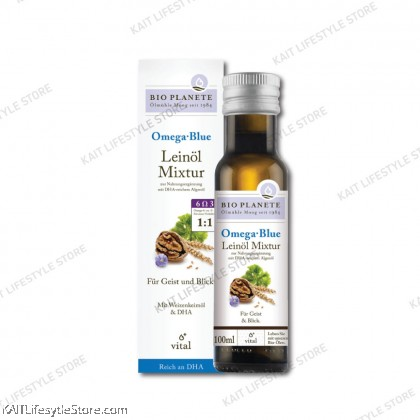 BIO PLANET Omega Blue Virgin Flaxseed Oil Mixture (100ml)