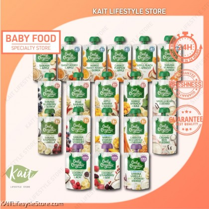 [BUY 1 FREE 1] ONLY ORGANIC Fruit & Vege Pouches 120g