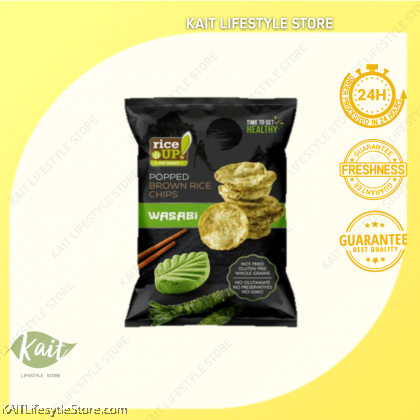 RICE UP Popped Brown Rice Chips 60g