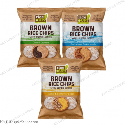 RICE UP Popped Brown Super Seeds 60g