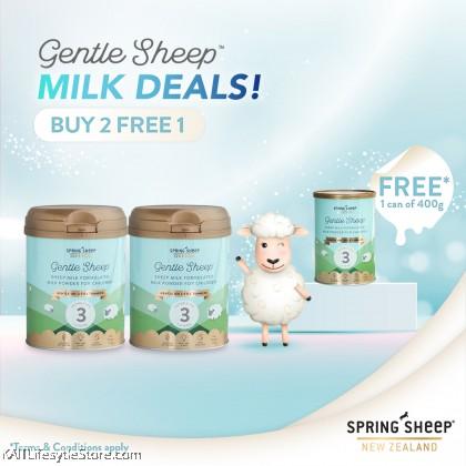 [BUY 2 FREE 1] SPRING SHEEP NZ: Gentle Sheep Toddler Milk - Steps 3 (700gm) [HALAL]