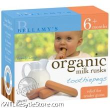 BELLAMY'S ORGANIC: Toothiepegs Milk Rusks