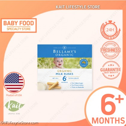 BELLAMY'S ORGANIC: Toothiepegs Milk Rusks (100g) [6 months]