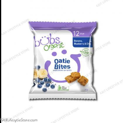 BUBS Organic Oaties Bites Banana Bluberry & Chia 30g (12m+) [HALAL]
