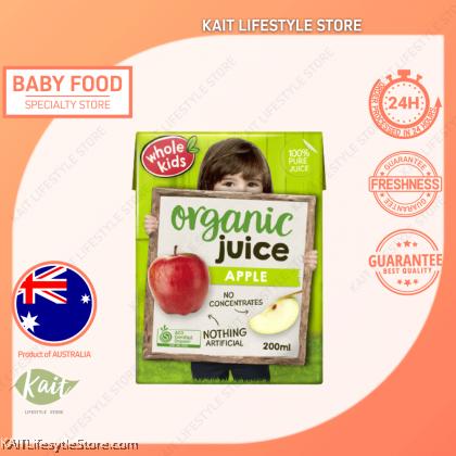 WHOLE KIDS Organic Apple Juice (200ml) [3 y/o+]