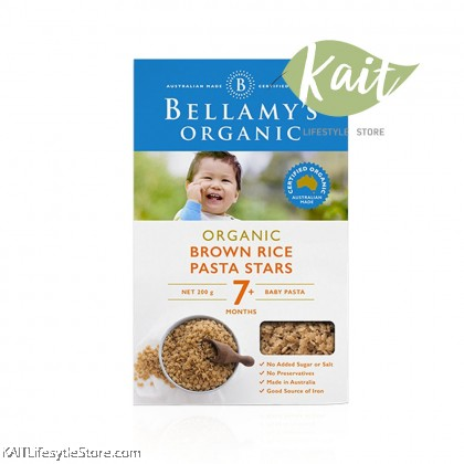 BELLAMY'S ORGANIC: Brown Rice Pasta Stars (200g) [7 months]