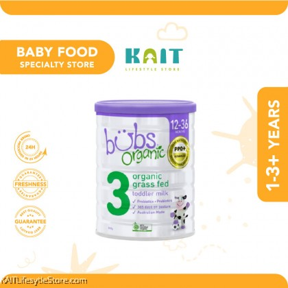 BUBS Organic Grass Fed Formula Milk S1-4 800g [HALAL]