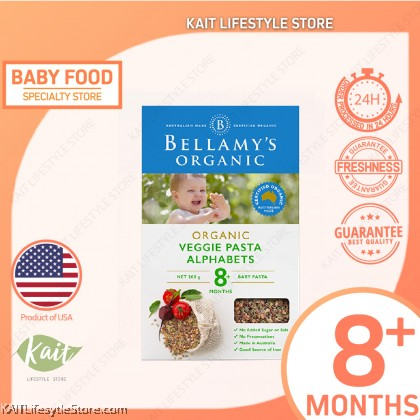 BELLAMY'S ORGANIC: Vegie Alphabet Pasta (200g) [8 months]