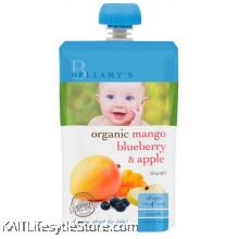 BELLAMY'S ORGANIC: Mango Blueberry & Apple (120g)