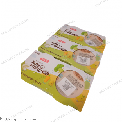 FARM TO BABY Baby Porridge Set (100gx2) [7~12m+]