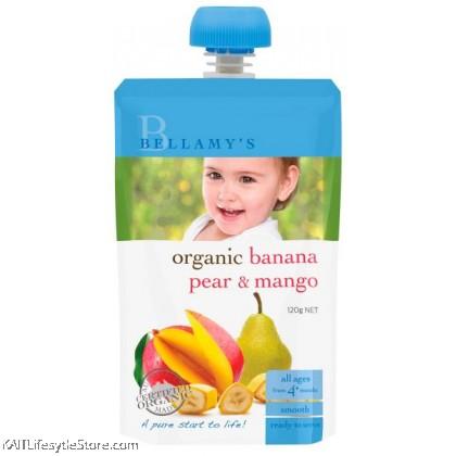 BELLAMY'S ORGANIC: Banana Pear & Mango (120g)