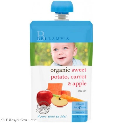 BELLAMY'S ORGANIC: Sweet Potato Carrot & Apple (120g)