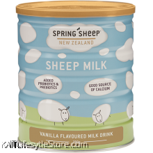 SPRING SHEEP MILK NZ: Probiotic sheepmilk -VANILLA Flavoured (700gm) [HALAL]