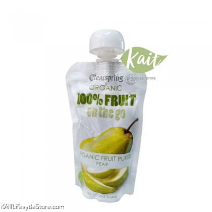 CLEARSPRING Fruit on the go - Pear (pouch),Organic (120gm)