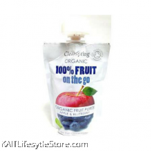 CLEARSPRING Fruit on the go - Apple & Blueberry (pouch),Organic (120gm)