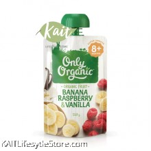ONLY ORGANIC Banana Raspberry & Vanilla