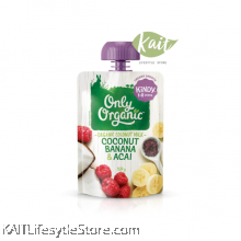 ONLY ORGANIC coconut banana & acai smoothie (100gm)