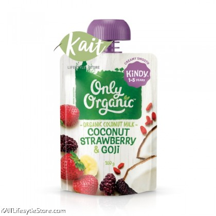 ONLY ORGANIC Coconut Strawberry & Goji Smoothie